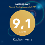 9.1 Guest Review Awards 2018 Booking.com